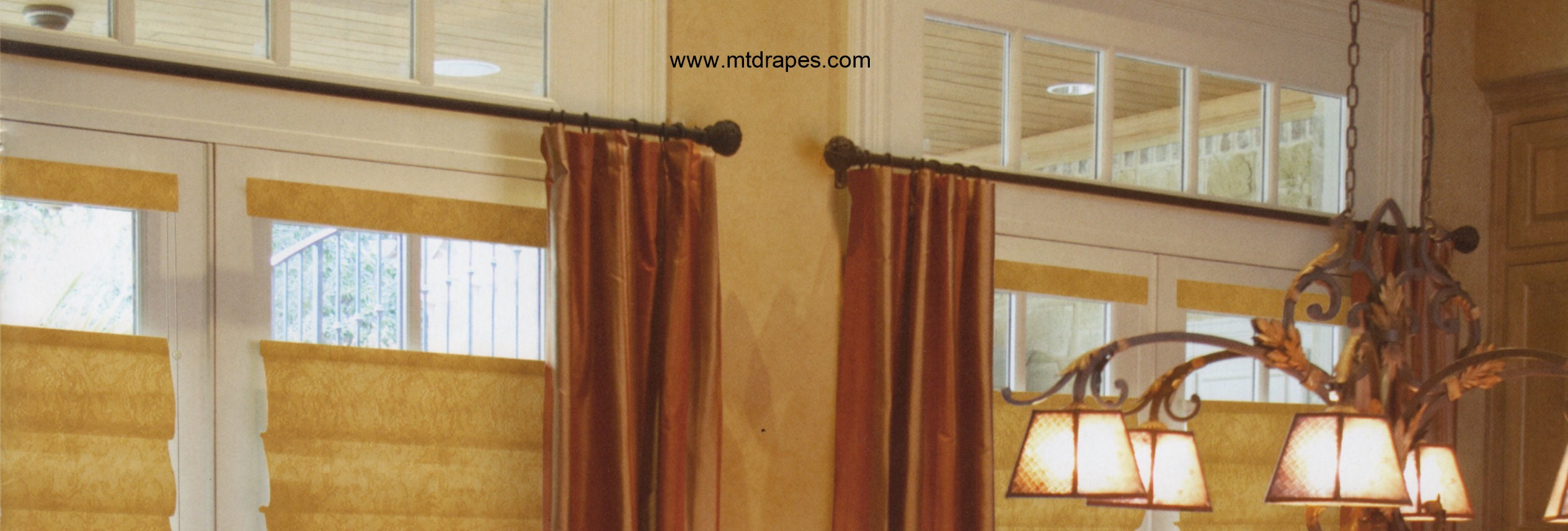Wooden curtain brackets - Wrought Iron Drapery Rods